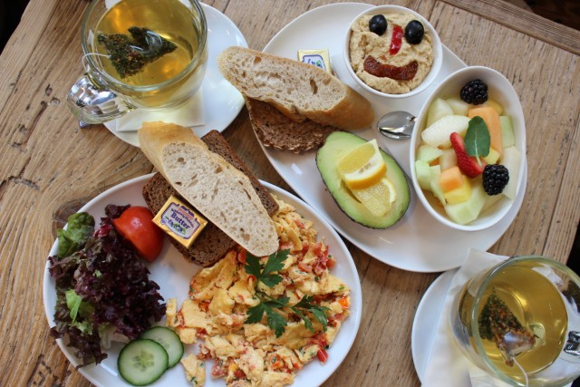 Frühstück im Cafe Cotidiano