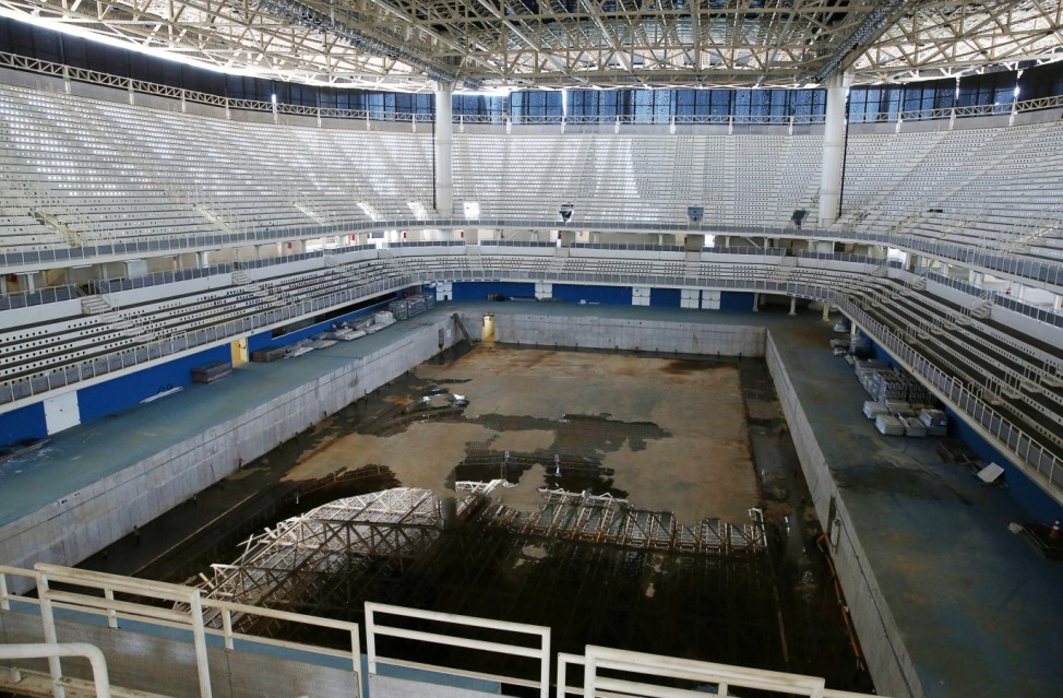 A view of the Olympic Aquatics Stadium, which was used for the Rio 2016 Olympic Games, is seen in Rio de Janeiro
