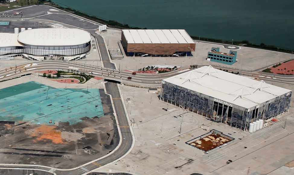 Aerial view shows the Olympic park which was used for the Rio 2016 Olympic Games, in Rio de Janeiro