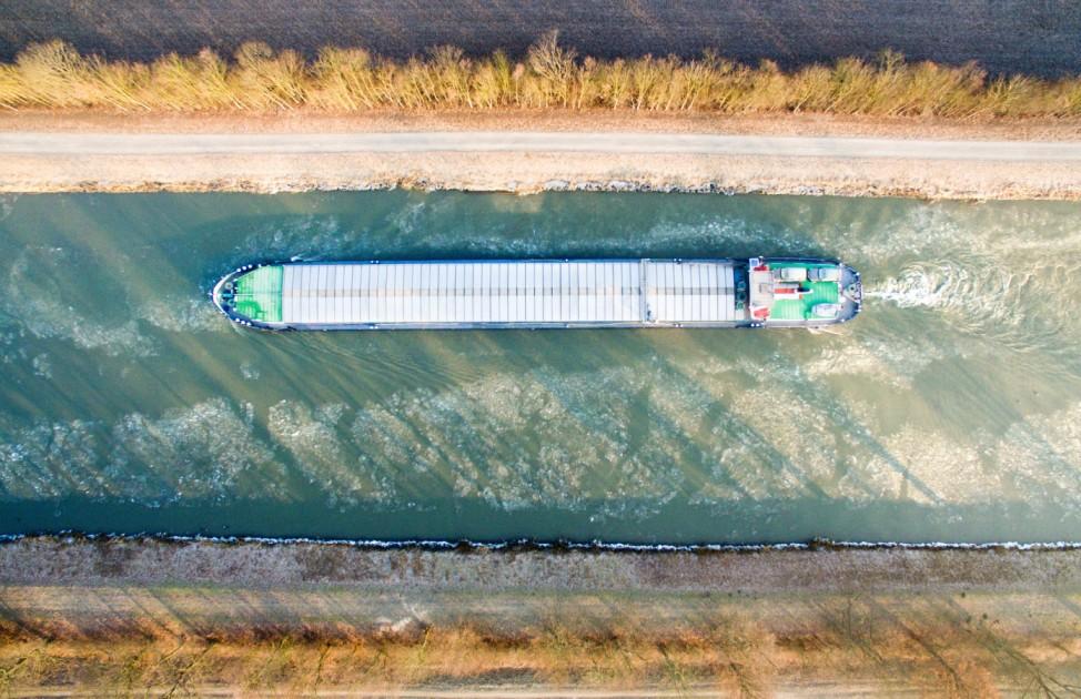 Eis auf dem Mittellandkanal