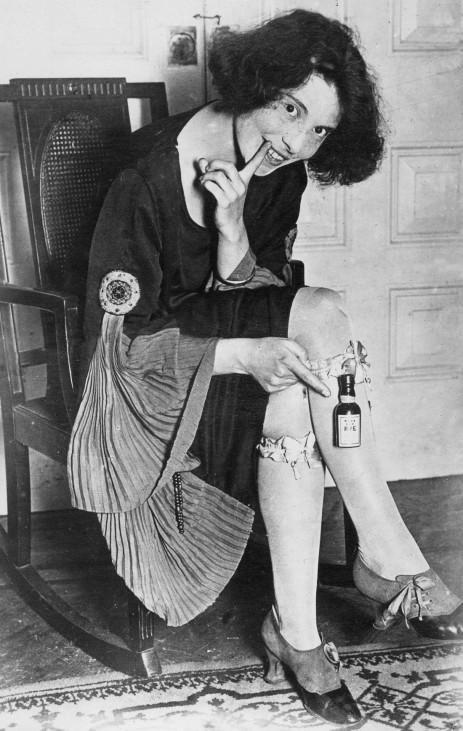 Schnapsschmuggel während der Prohibition in den USA, 1924