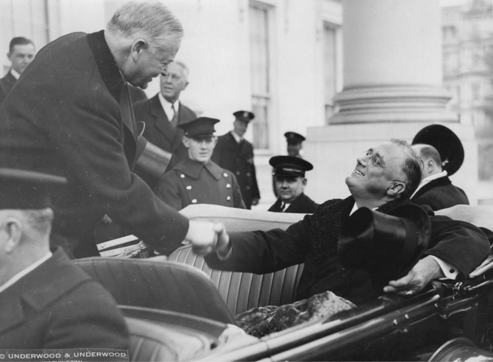 Präsidenten Herbert Hoover und Franklin D. Roosevelt ; Inauguration 1933 Herbert Hoover Roosevelt