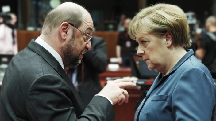 Martin Schulz, Angela Merkel