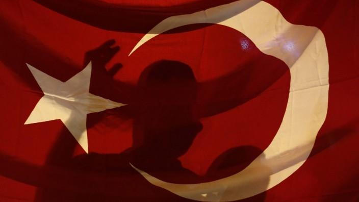Demonstration nach Putschversuch in der Türkei