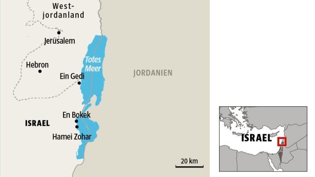 Tourismus in Israel: SZ-Karte