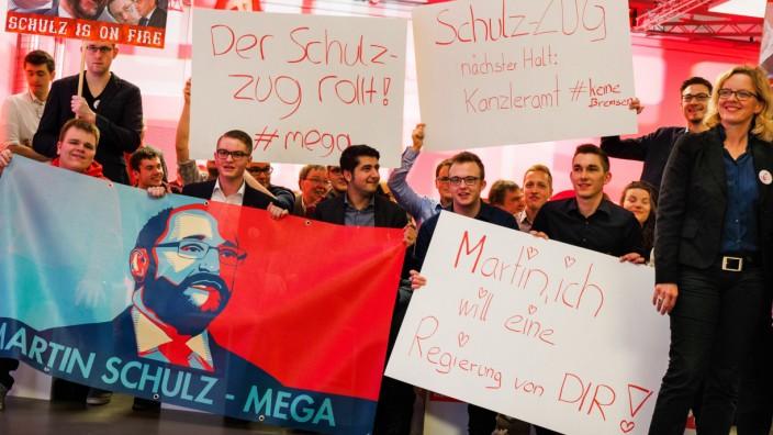 SPD-Kanzlerkandidat Schulz in Würzburg
