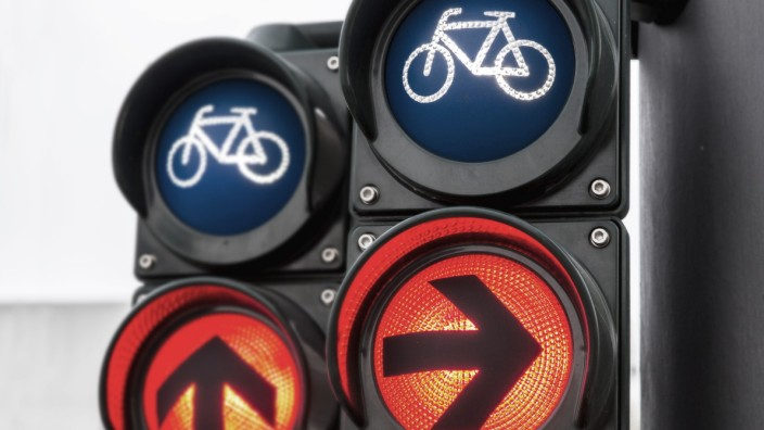 Verkehrsampel fuer Radfahrer