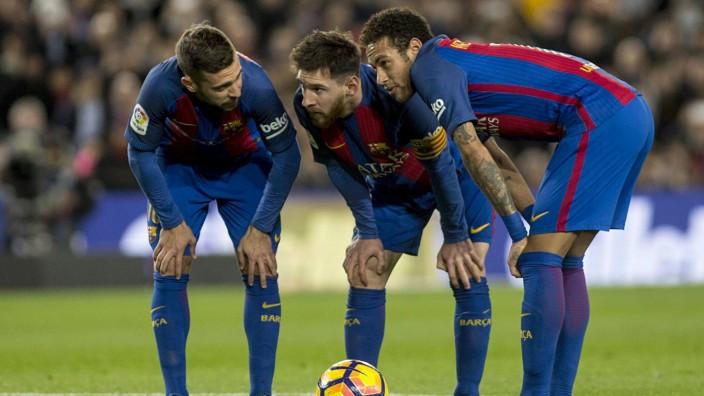 BARCELONA VS SPORTING GIJON, Spain - 01 Mar 2017