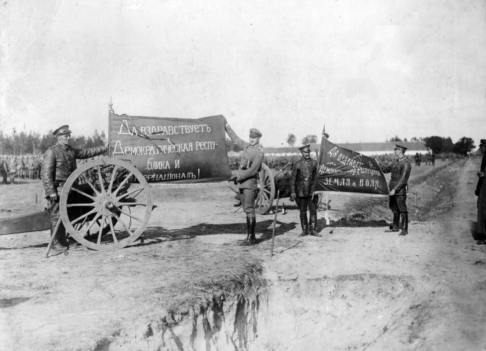Deutsche Soldaten bei Riga, 1917