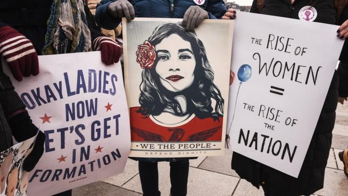 Frauenrechte Protestmarsch Trump