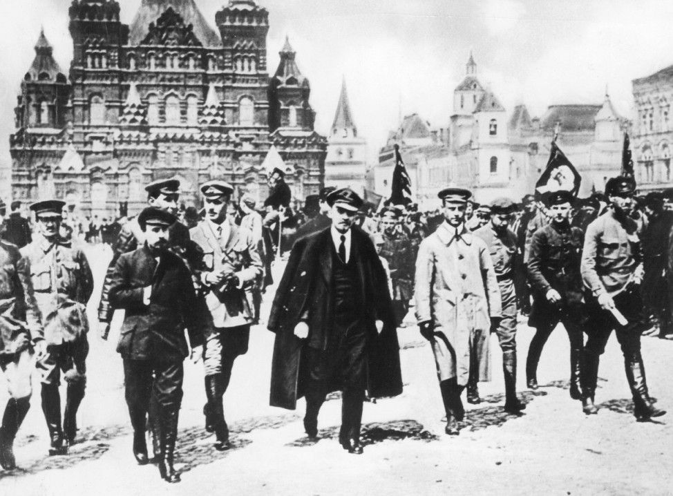 Wladimir I. Lenin bei einer Parade, 1919
