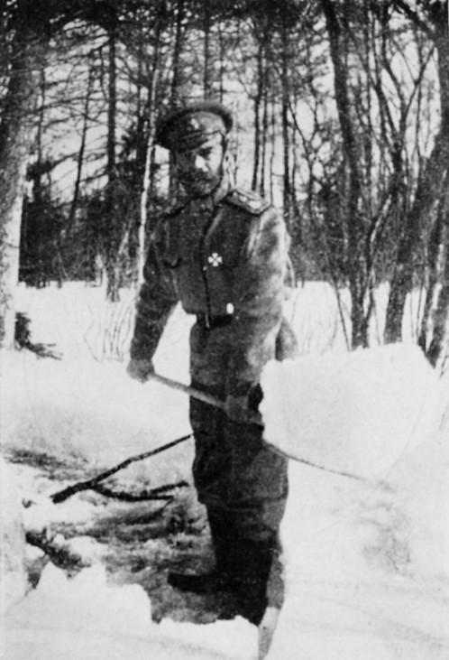 Zar Nikolaus II. in Gefangenschaft, 1917/18