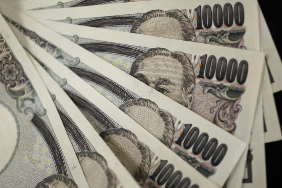 A picture illustration shows Japanese 10,000 yen notes featuring a portrait of Yukichi Fukuzawa, the founding father of modern Japan, taken in Tokyo