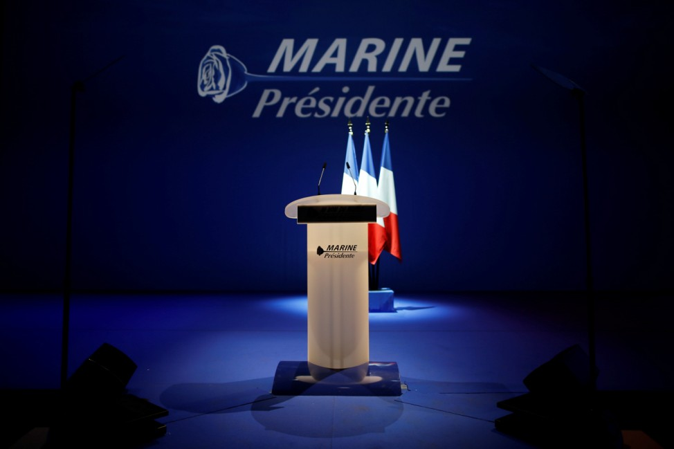 General view before a political rally of Marine Le Pen in Saint-Herblain near Nantes