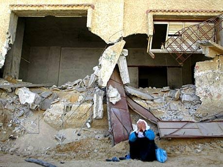 Zerstörung nach israelischer Militäroffensive im palästinensischen Rafah, 2004