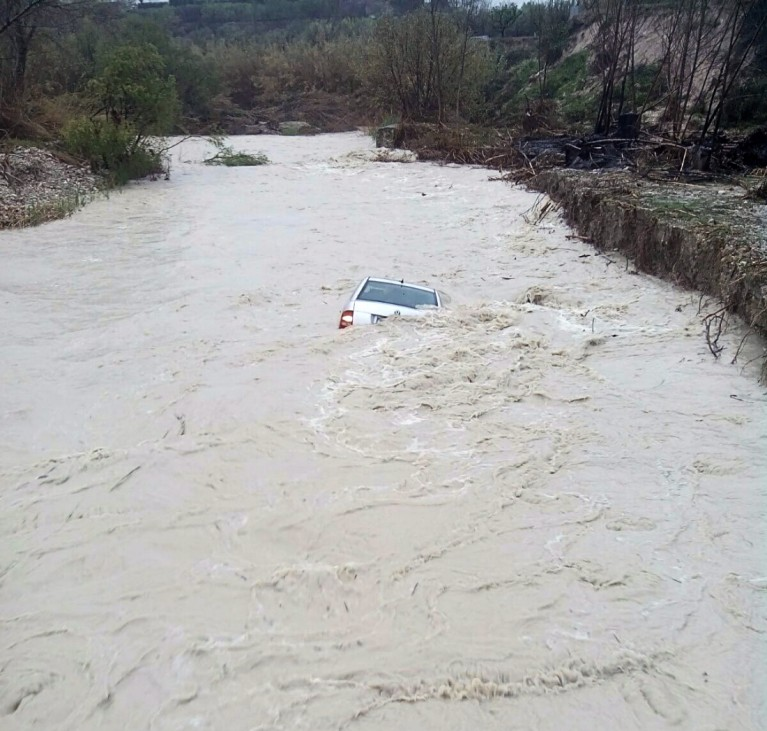 Unwetter in Spanien