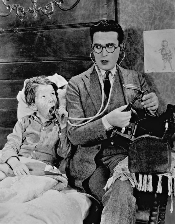 Filmszene mit Harold Lloyd