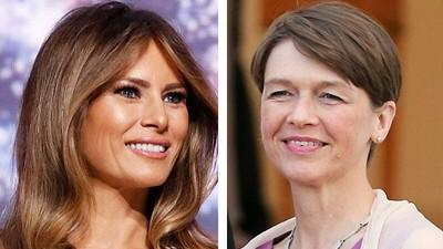 First Ladies: Melania Trump, Ex-Model, widersetzt sich bisher dem Druck, First Lady zu spielen, und erntet dafür unerwartete Sympathien von Feministinnen. Elke Büdenbender, Richterin, hat ihm nachgegeben: Sie will ihre Tätigkeit während der Amtszeit Steinmeiers ruhen lassen.