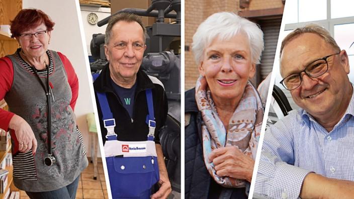 Arbeiten im Alter: Als Ärztin, Monteur, Betreuerin und Kfz-Meister - diese Senioren arbeiten weiter, obwohl sie das Rentenalter schon erreicht haben.