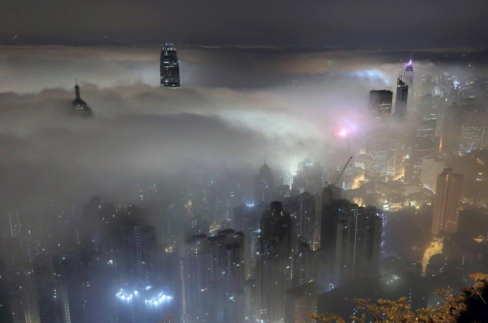 Nebel in Hongkong