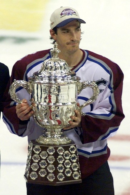 AVALANCHE SAKIC HOLDS CAMPBELL TROPHY AFTER VICTORY OVER BLUES
