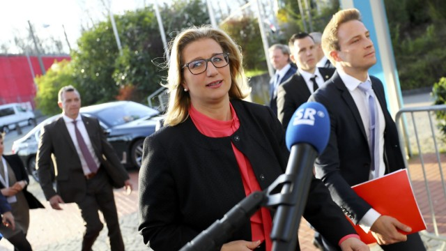 Reactions on Saarland state elections in Saarbruecken