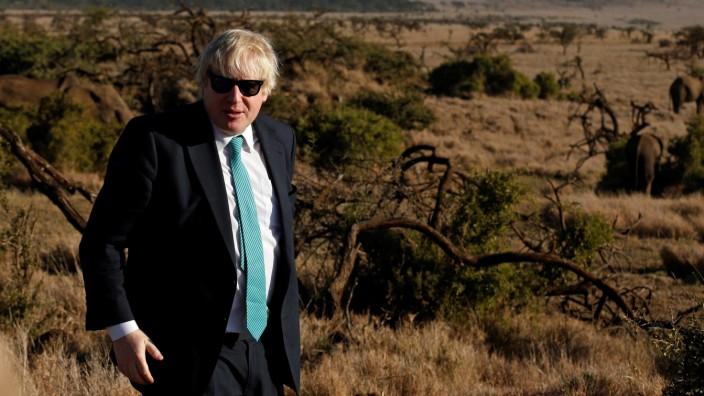 EU-Austritt Großbritanniens: Großbritanniens Außenminister Boris Johnson in Kenia