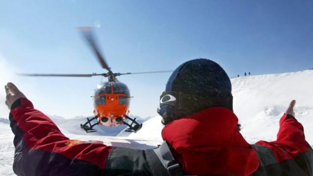 Bergwacht übt Winterrettung