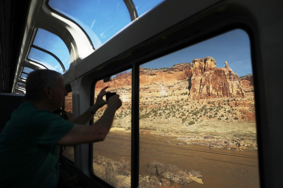 Amtrak's Zephyr Train, Offering Spectacular Views Of American West, Under T
