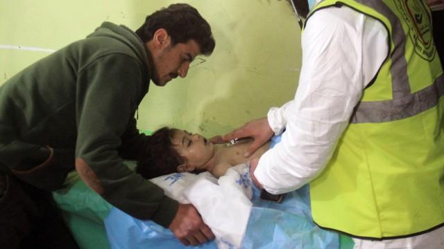Syrien: Unter den Opfern des Chemiewaffen-Angriffs auf Khan Scheikhun am 4. April waren auch viele Kinder.