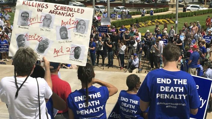 Protest gegen geplante Hinrichtungen in Arkansas