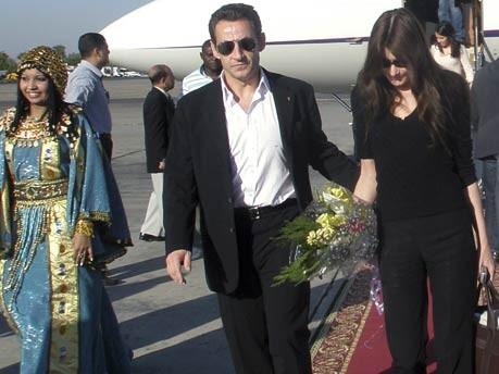 Bruni, Sarkozy, Ägypten, AP