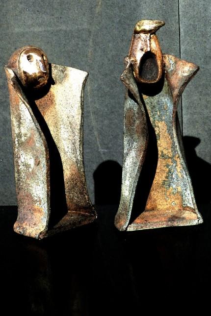 wlad und donald, skulptur