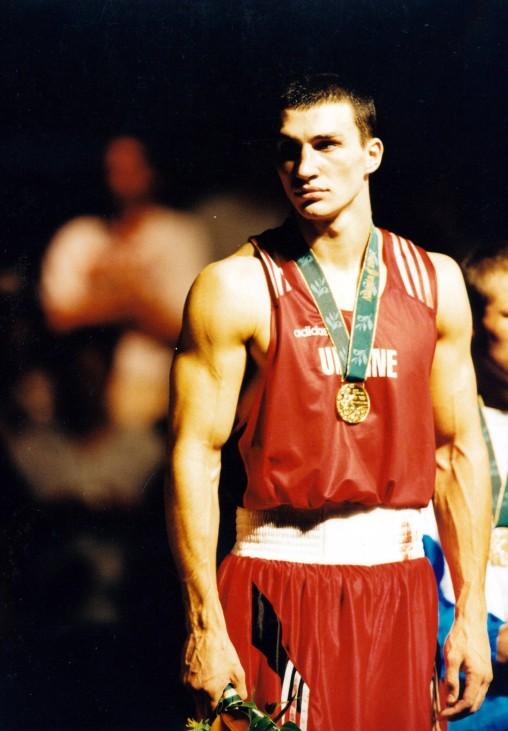 Olympische Sommerspiele in Atlanta Boxen Siegerehrung Superschwergewicht Sieger Wladimir Klitschk; Wladimir Klitschko Olympia