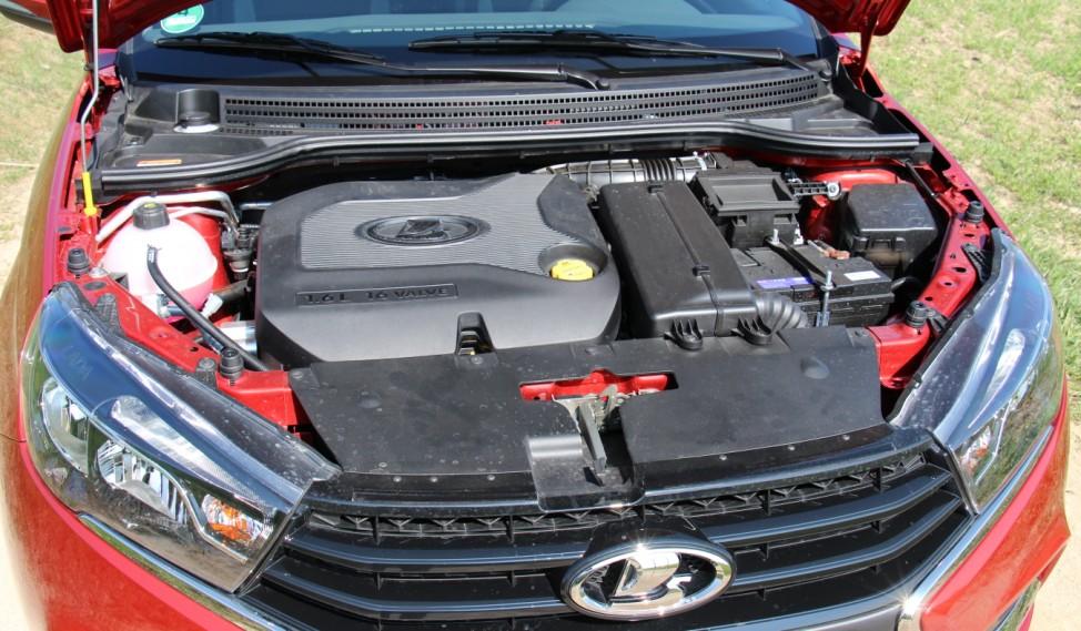 Der Motor des Lada Vesta.