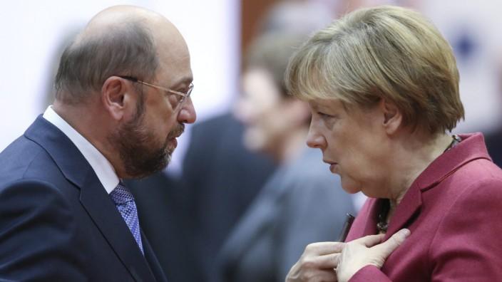 Sie haben schon öfters miteinander diskutiert (wie hier 2014 im Europäischen Parlament), doch wie die Usancen des TV-Duells zwischen Martin Schulz und Angela Merkel sein sollen, ist noch längst nicht