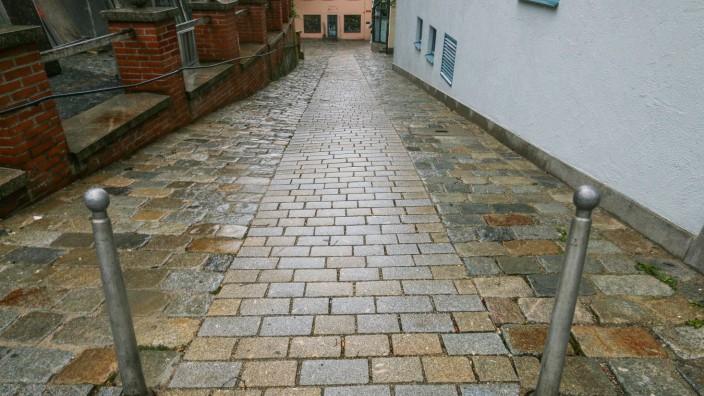 Fußweg Pflasterung