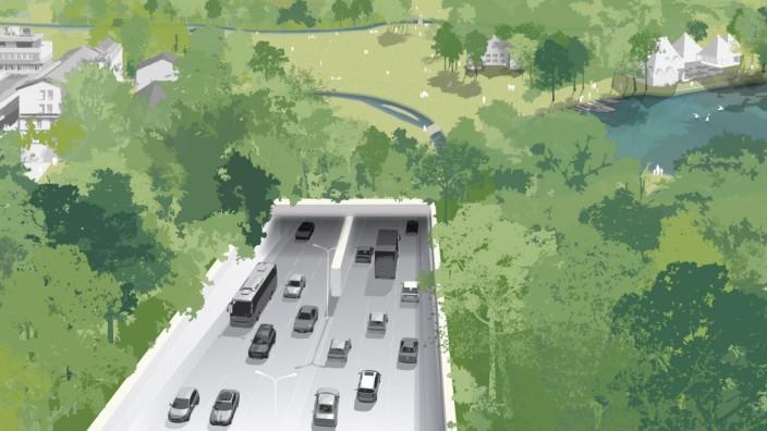 Stadtratsbeschluss: Auf dem Tunnel wäre Platz für Fußgänger, Radler - und Natur.