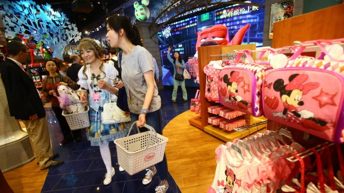 Disney opens its biggest store in Shanghai