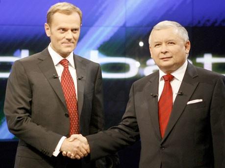 tusk, Kaczynski, Reuters