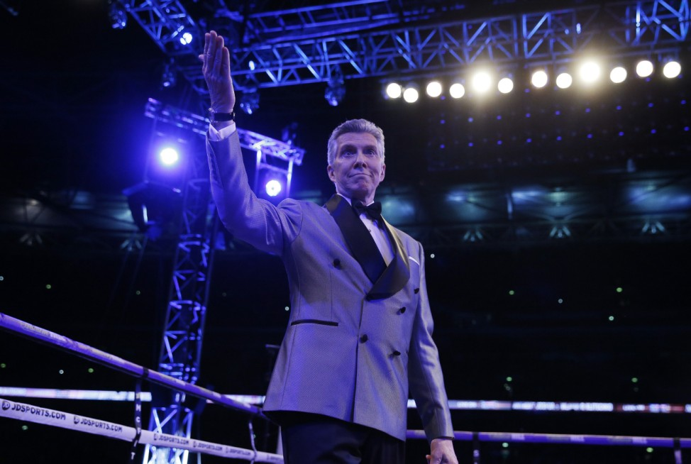 Announcer Michael Buffer before the fight