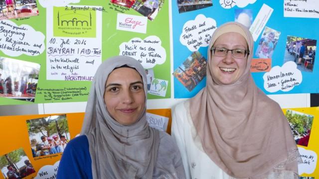 Ehrenamtliches Engagement: Für die Vielfalt: Nuria Ahmadzei und Jessica Celik (rechts).
