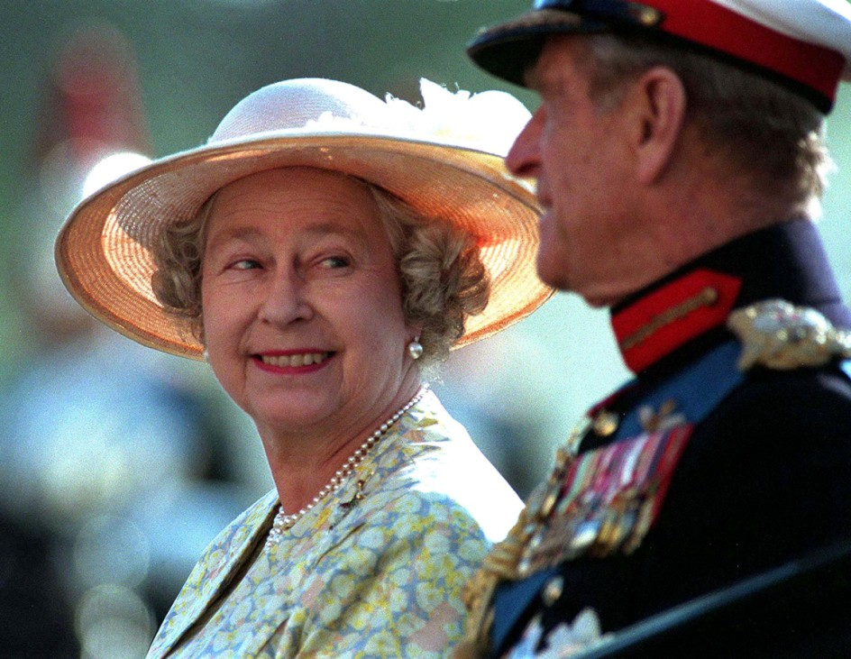 FILE PHOTO -  File photo of Queen Elizabeth II and Prince Philip attending the Beating the Retreat ceremony on Horseguards Parade