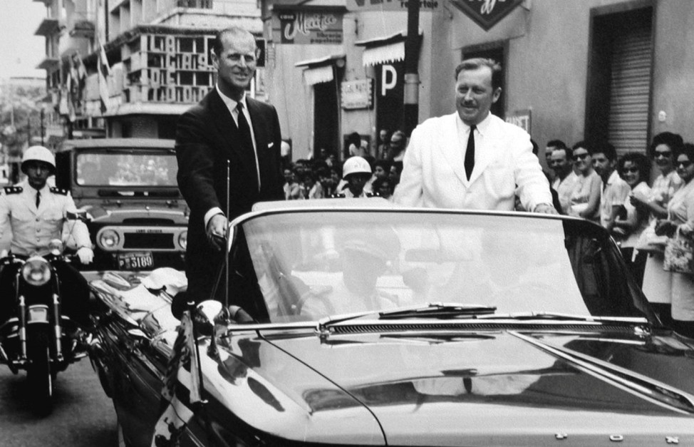 FILE PHOTO -  File photo of Paraguayan dictator Stroessner riding with Prince Philip, the Duke of Edinburgh, in Asuncion
