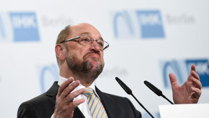SPD-Kanzlerkandidat bei IHK Berlin