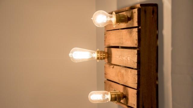 Lampe DIY Stil Do it yourself Glühbirne