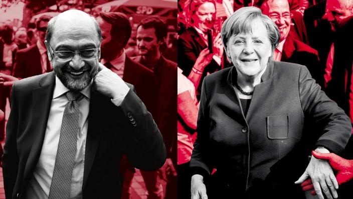 Merkel Schulz NRW