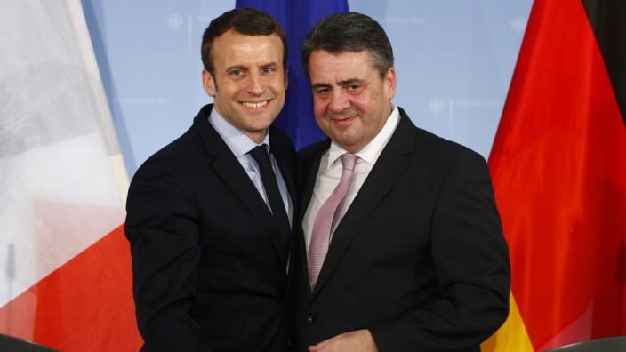 Emmanuel Macron Meets German Foreign Minister Gabriel