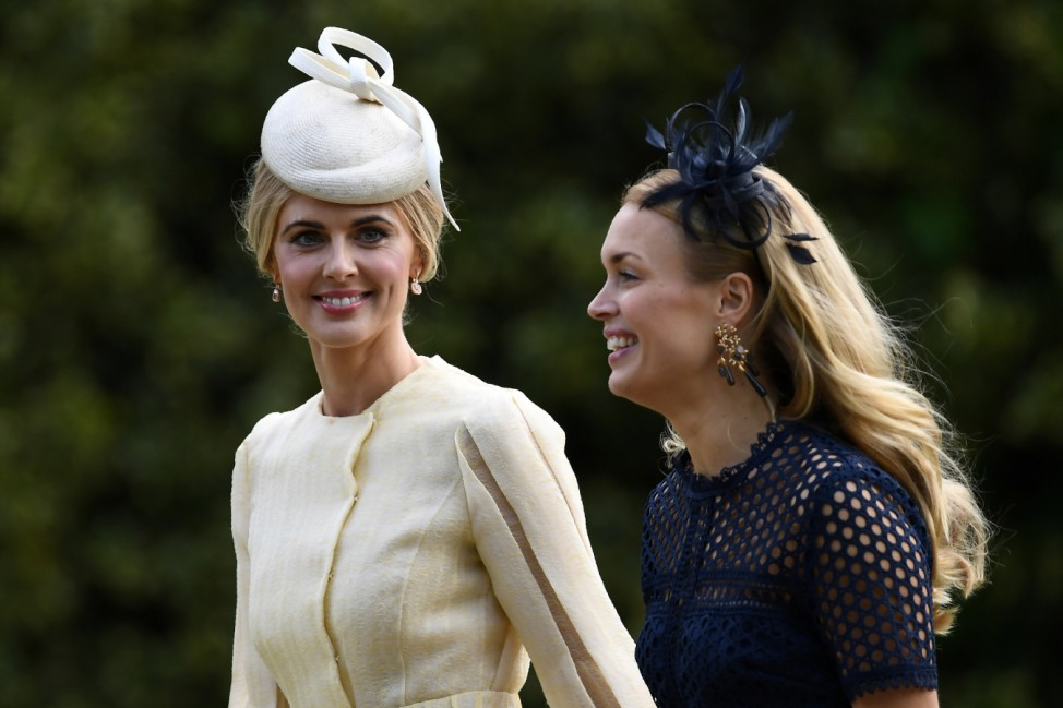 Donna Air attends the wedding of Pippa Middleton and James Matthews at St Mark's Church in Englefield, west of London