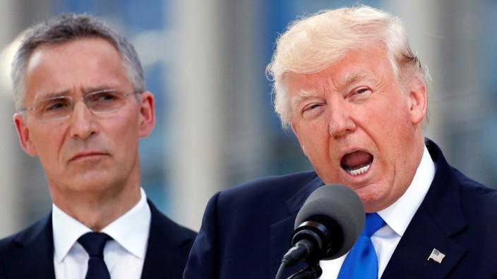 US-Präsident Donald Trump mit Nato-Generalsekretär Jens Stoltenberg
